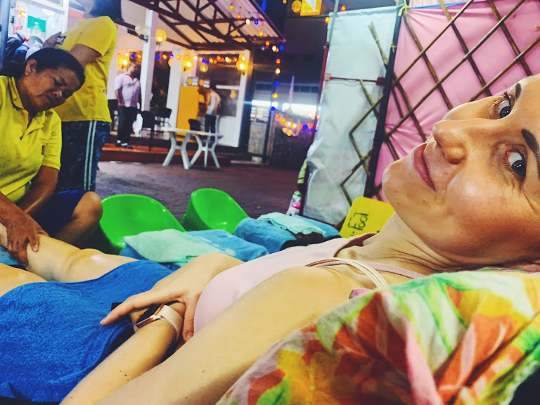 Thai massage on Khaosan Road