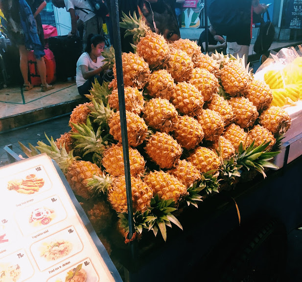 Mini pineapples in Bangkok